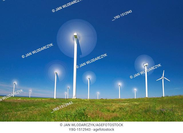 Wind turbine, wind farm, Pomerania, Poland, Europe