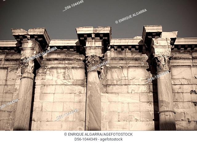 Hadrian's Library in Ancient Agora of Athens. Greece