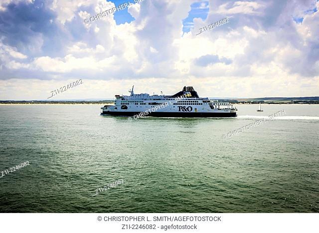 P&O Cross-channel ferry heading towards the port of Calais