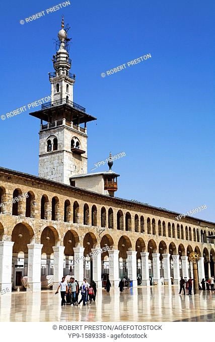 Courtyard of the Umayyad Mosque, Damascus, Syria