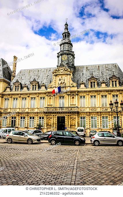 Hotel de Ville in Reims city France