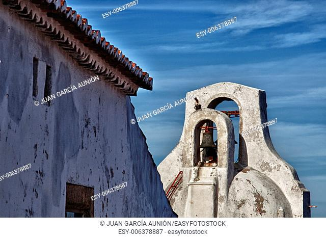 Emblematic whitewashed architecture in Marvao, Alentejo, Portalegre, Portugal