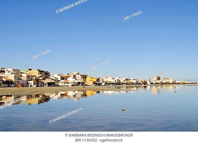 Los Nietos, houses, village, lagoon, inland sea, Mar Menor, Murcia, Spain, Europe