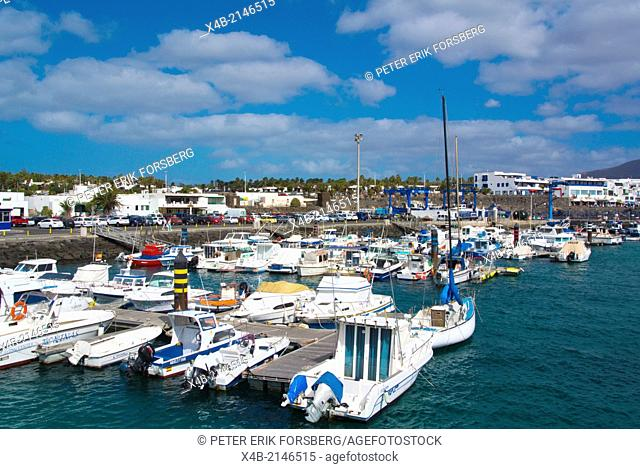 Marina port area, Playa Blanca, Lanzarote, Canary Islands, Spain, Europe