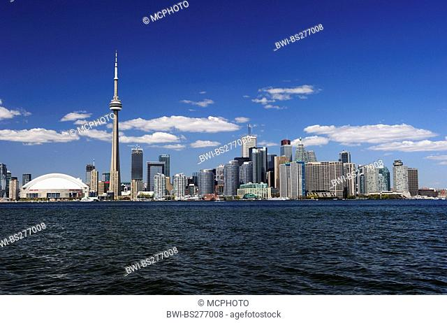 Toronto Skyline with Lake Ontario in the foreground, Canada, Ontario, Toronto