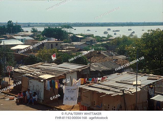 Paraguay - Slum dwellings, Asuncion