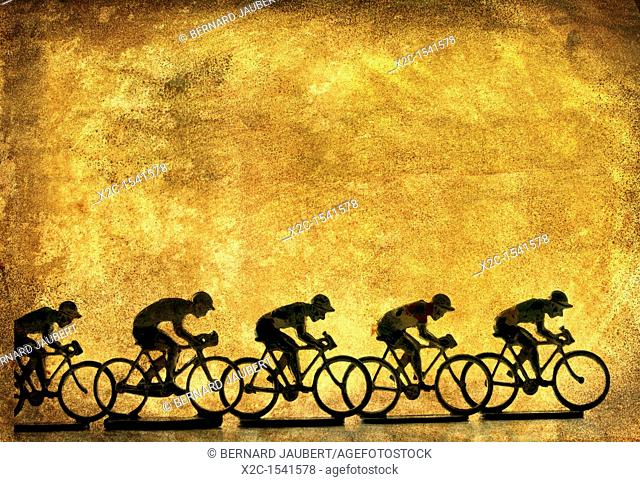 Illustration of cyclists