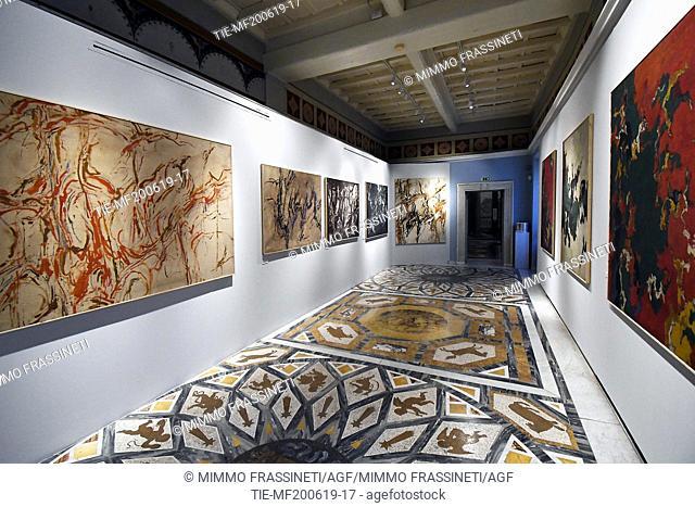 Exhibition 'Luigi Boille. Luoghi di luce, scrittura del silenzio' at the Casino dei Principi di Villa Torlonia, Rome, ITALY-20-06-2019