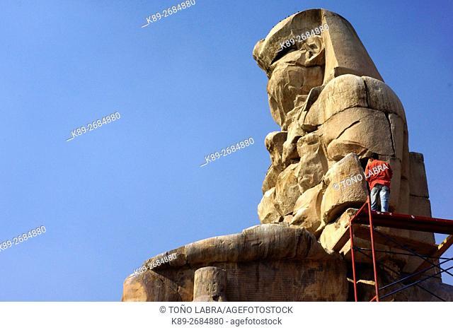 Memnon Colossus, Luxor, West Bank Egypt