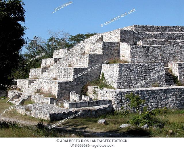 Pyramid Dzibichaltun Mexico