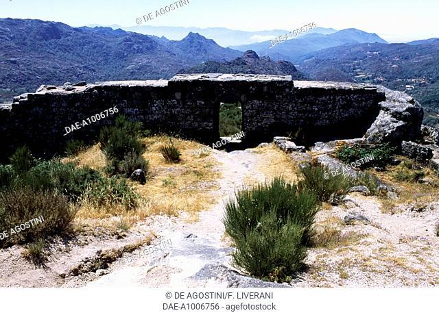 Ruins of Castro Laboreiro castle, Peneda-Geres National Park (Parque Nacional da Peneda-Geres), Portugal