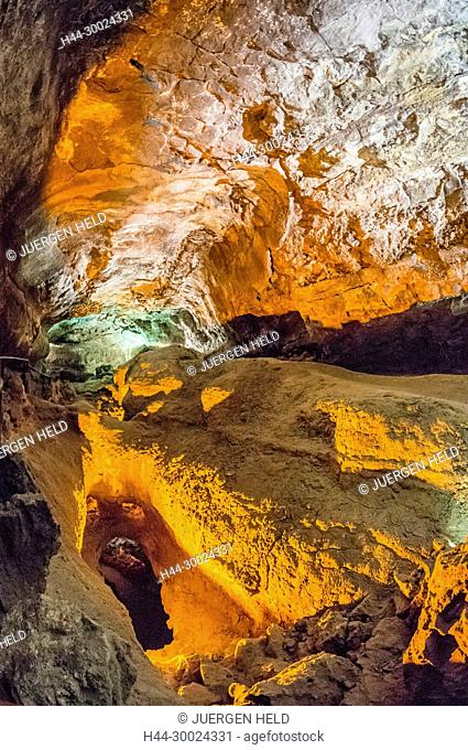 Cueva de Los Verdes in Lanzarote, Canary Islands , Spain
