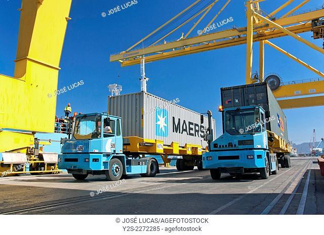Commercial port, Algeciras, Cadiz province, Region of Andalusia, Spain, Europe