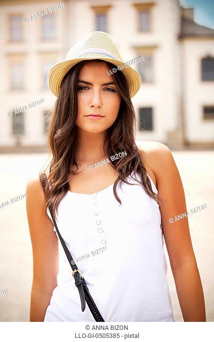 Portrait of beautiful summer girl, Debica, Poland