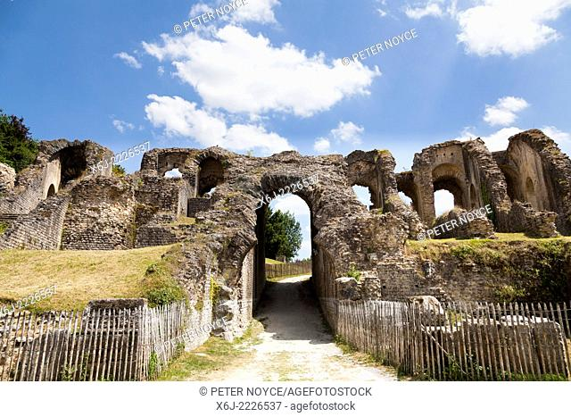 Entrance to the arena of the Roman amphitheatre in Saintes France
