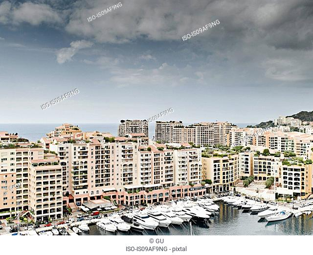 View of yachts and harbor, Monte Carlo, Monaco