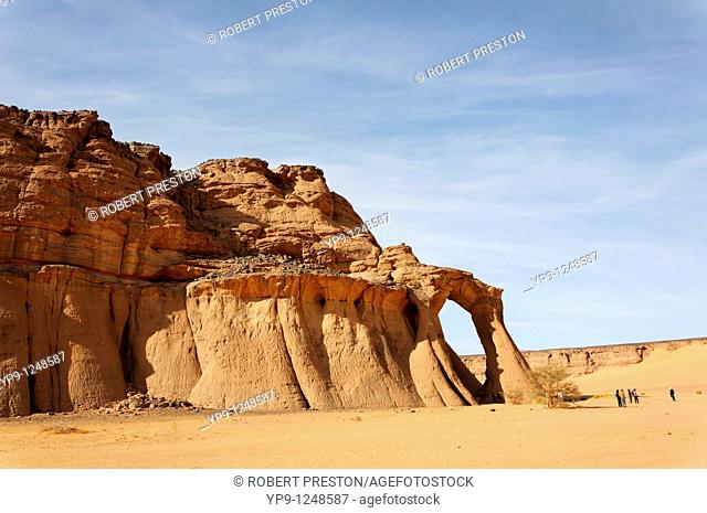 Natural rock formation in the Akakus Mountains, Libya