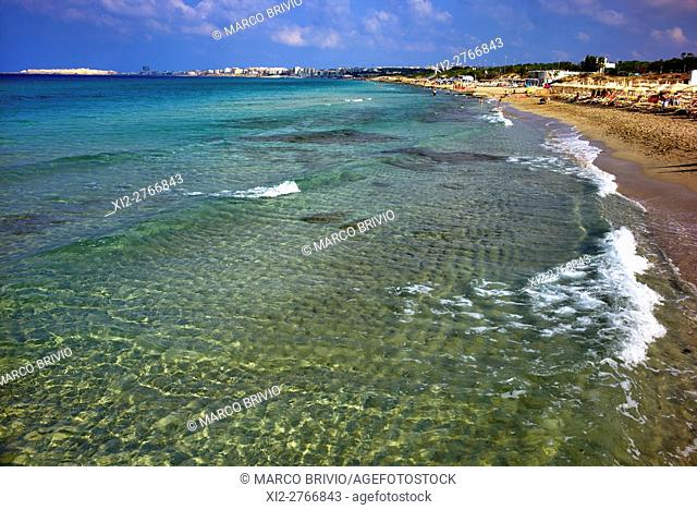 Baia Verde beach (Green Bay) in Gallipoli, Apulia, Italy