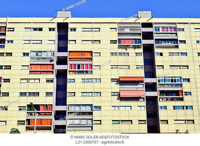Apartment building. Barcelona, Catalonia, Spain