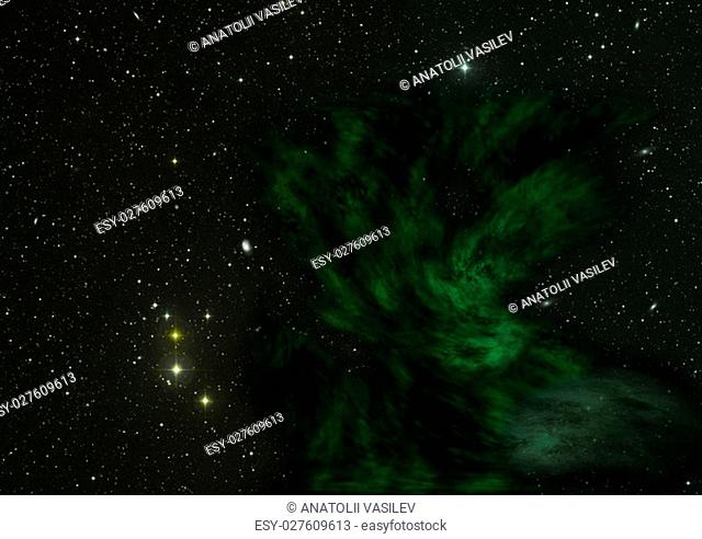"""Star field in space a nebulae and a gas congestion. """"""""Elements of this image furnished by NASA"""""""""""