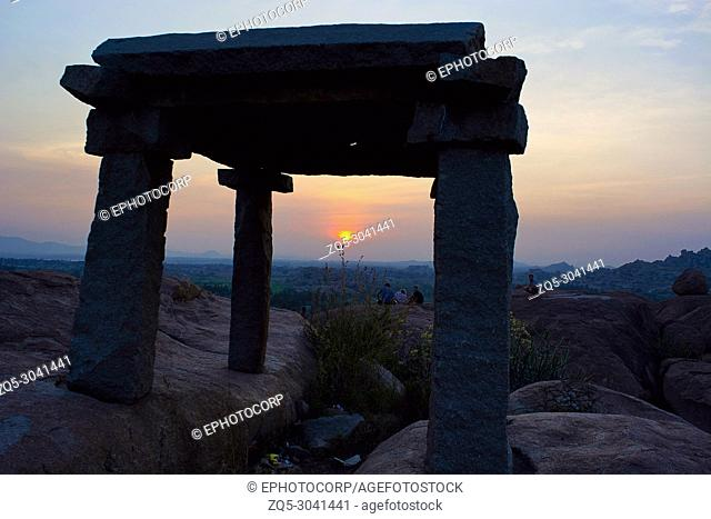 Sunset from Malyavanta hill, Hampi, Karnataka, India