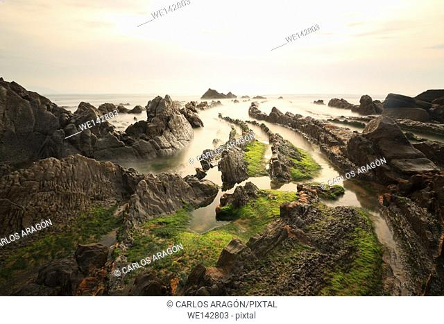 Beach of Barrika, Basque Country, Spain