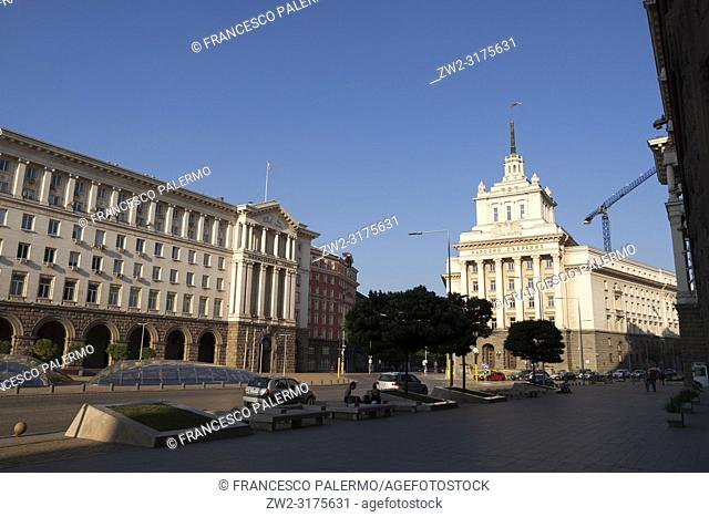 The Largo is the former Communist Party House. Sofia, Bulgaria