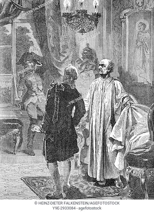 French General Radet taking Pope Pius VII as prisoner in 1809