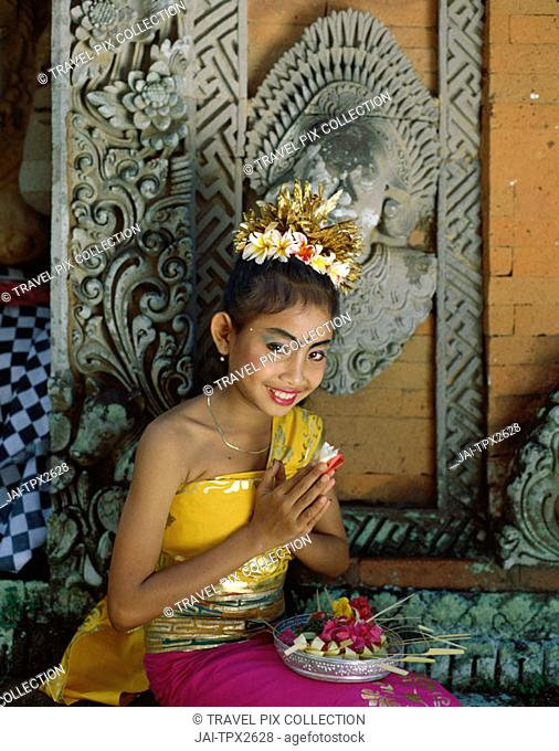 Legong Dancer / Girl Dressed in Traditional Dancing Costume, Bali, Indonesia