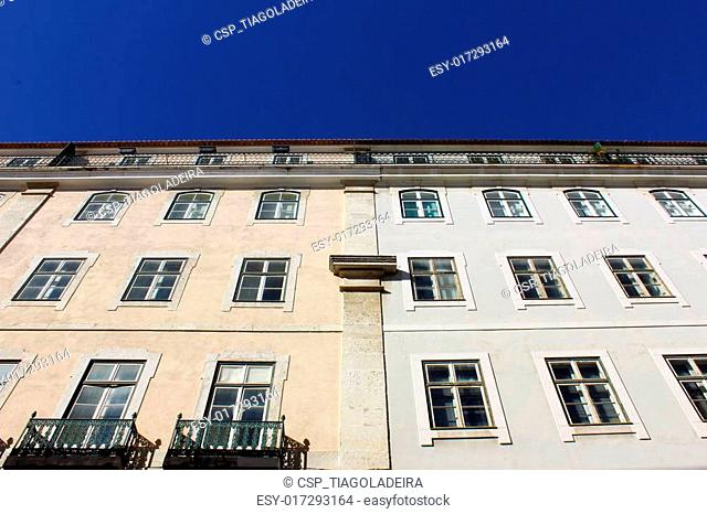 Detail of an old building at Lisbon, Portugal