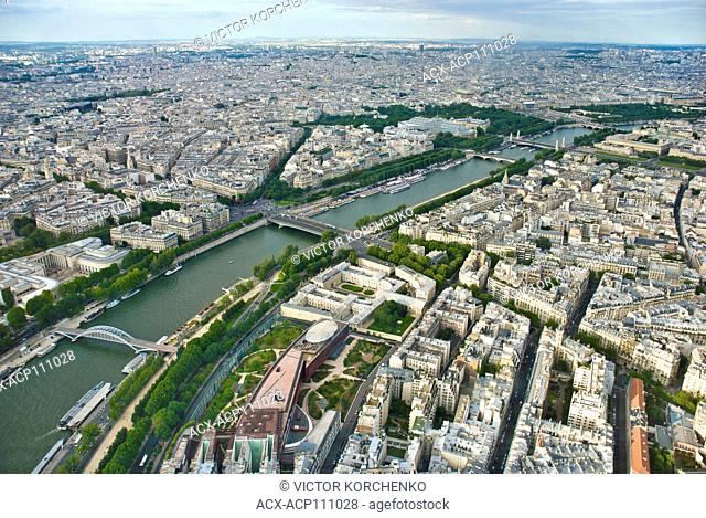 aerial view of river Seine