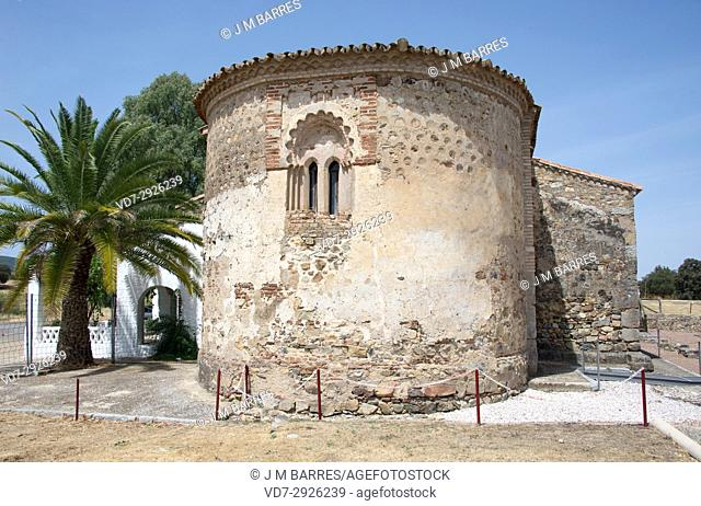 San Mames Hermitage apse (13th century). Aroche, Huelva province, Andalucia, Spain