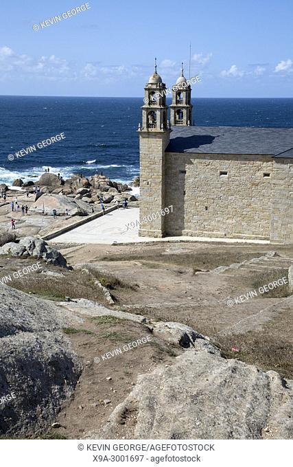 Our Lady - Nosa Senora of Barca Church, Muxia; Fisterra; Costa de la Muerte; Galicia; Spain