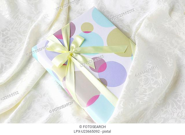 Gift on silk material