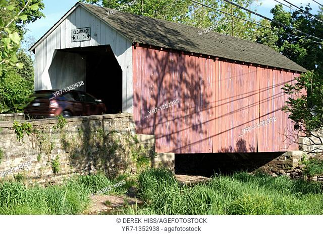 Covered bridge in Bucks County, Pennsylvania