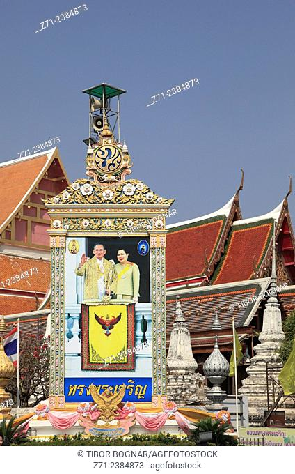 Thailand, Ayutthaya, Wat Phanan Choeng, buddhist temple