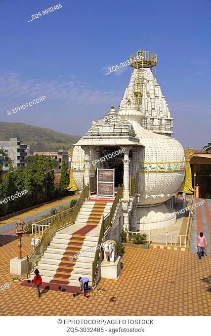 Aerial view of Shree Shankheshwar Parshnath Tirth - Jain Kalash Temple, Temple in shape of kalash, Somatane Toll Plaza at Pune