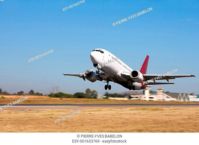 Departing aircraft