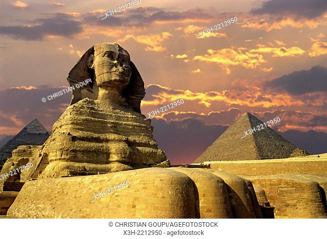 Great Sphinx of Giza, Egypt, Africa