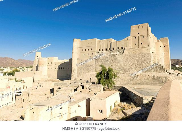 Sultanate of Oman, gouvernorate of Ad-Dakhiliyah, Bahla Fort, listed as a UNESCO World Heritage, fortress at the foot of the Djebel Akhdar (or Green Mountain)...