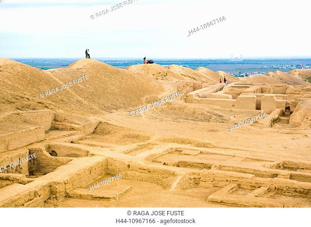 world heritage, Ashgabat, Nissa, Parthian, Turkmenistan, Central Asia, Asia, Alexander the great, archaeology, city, fortress, gengis khan, history, old, ruins