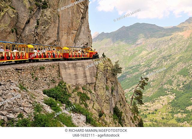 France, Pyrenees Atlantiques, Ossau valley, Artouste the little train of Artouste, highest in Europe