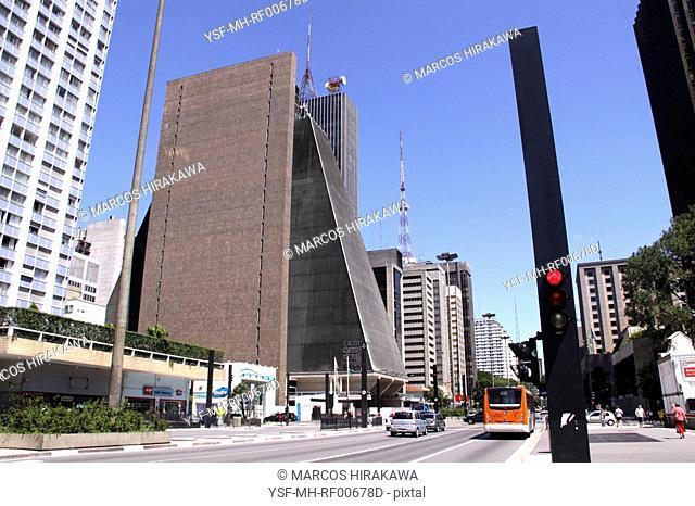 Traffic light, Paulista Avenue, São Paulo, Brazil