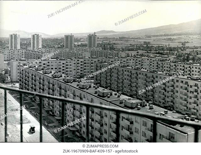 Sep. 09, 1967 - Bulgaria's National Day Development of the Housebuilding in Sofia: Many families will receive new flats this year