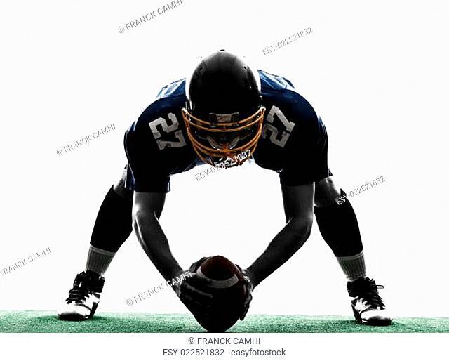 center american football player man silhouette