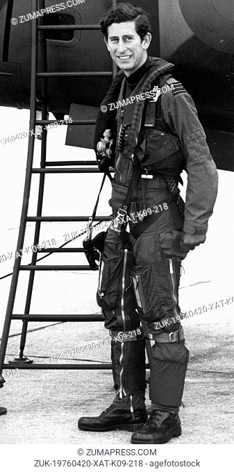 July 13, 1977 - London, England, U.K. - PRINCE CHARLES preparing to board the two-seater Harrier jump set which he will control, at RAF Wittering