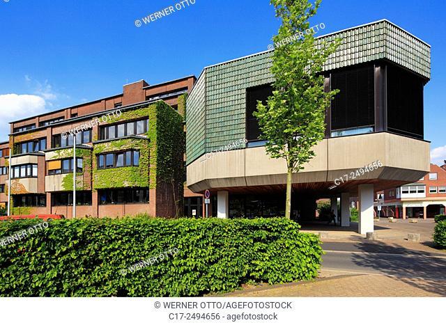 Germany, Voerde, Lower Rhine, Ruhr area, Rhineland, North Rhine-Westphalia, NRW, New City Hall