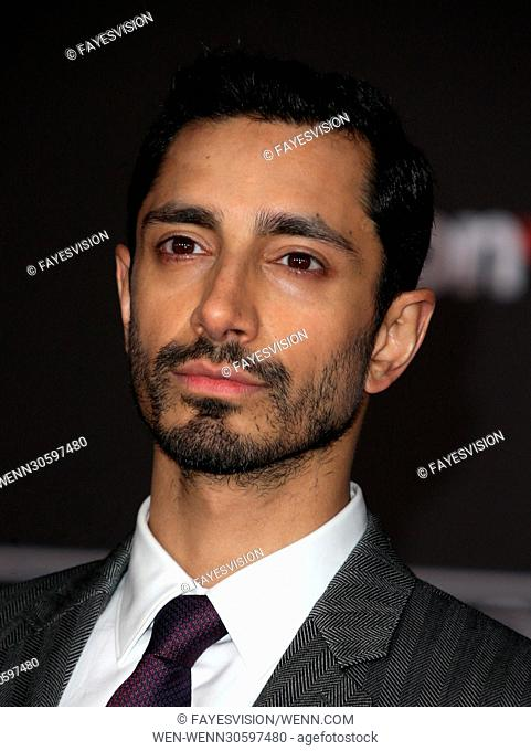 "Premiere Of Walt Disney Pictures And Lucasfilm's """"Rogue One: A Star Wars Story"""" Featuring: Riz Ahmed Where: Hollywood, California"