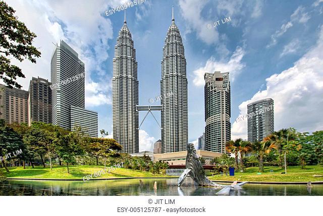 Kuala Lumpur City Skyline from KLCC Park