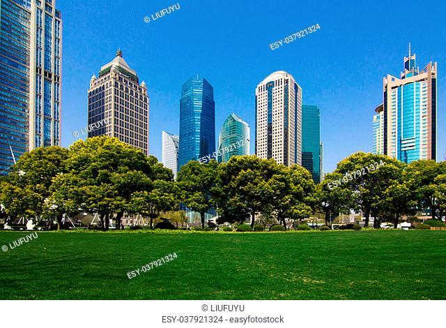 China Shanghai Pudong urban green space